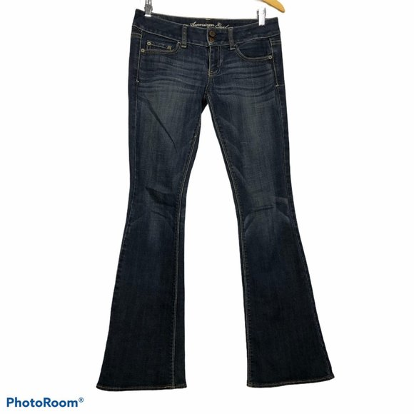 American Eagle Low Rise Artist Flare Denim Jeans